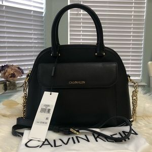 CK Chained Daytona Leather Satchel Bag